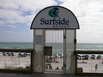 Surfside Private Beach Key card is need to open the gate.