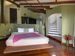 Master bedroom with king bed and en-suite bath