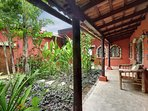 Enclosed courtyard/garden at the main villa