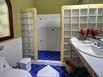 Casita upstairs bathroom. The second bathroom is the same as this one