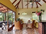 Another view of the casita living area and terrace