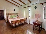 Queen bedroom in the main villa