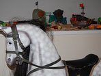Real rocking horse and many games and toys for all ages