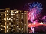 Fireworks every Friday night- see them from your lanai!