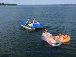 fun, fun, fun.. paddleboat, canoe, and floats included