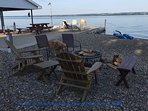 Enjoy Firepit or just sitting in the adirondack chairs