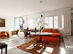 Bright apartment with windows throughout - allowing plenty of light in.