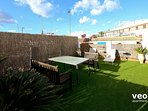 Wonderful roof-terrace equipped with garden furniture.