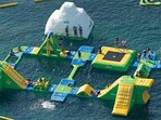 Floating 'Costa Water Park' in La Cala de Mijas every summer, from around June time.