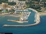Cabopino marina, cycle ride up the coast from La Cala, the new coastal walkway almost at Cabopino