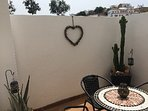 courtyard/terrace off kitchen