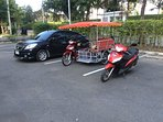 Our car,3 wheeler and motor bike that can be rented at reasnoble prices.
