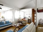 Living area. The apartment features contemporary furnishings and bright rooms.
