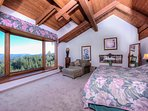 Romance and City Views from the huge Master Bedroom!