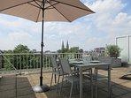 Beautiful terrace overlooking Antwerp