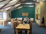 Dining in the Cove cafe. Why not try a hassle free lunch or snack