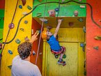Specialised climbing instruction - challenging learning opportunities. Oh and it's fun too!