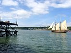 The day the Tall ships came to the Cleddau river