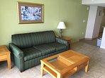 Living room with a sleeping sofa