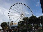 Great sky wheel in 3 blocks away in Broadwalk