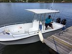 Our 28 ft optional boat rental ($200 a day or $1000 a week) + fuel comes with captain.