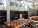 Tables and barbecues zone