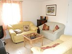 Spacious lounge - bright and beautifully furnished