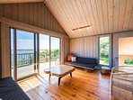 Living Room opens to Waterview Deck