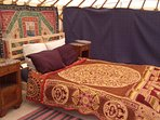 Yurt interior. if you want to use the Yurt please check it is free when you book the barn.