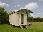 Shepherds Hut, glamping for two in Skipsea, East Yorkshire