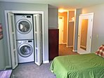 Brand new washer and dryer in the bedroom suite.