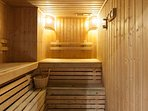 2 saunas in pool bathrooms with showers and toilets