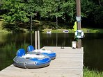 Soak up the sun on the large dock.