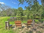You'll love splashing around in the small, but deep swim pond in the front of the cabin.