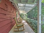 Unwind on the private covered porch with a glass of iced tea.