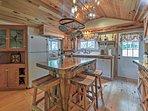 This 3-bedroom, 2-bath home is rustic-yet-elegant.