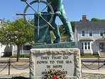 The famous 'Fisherman at the Wheel' Gloucester. Ma.
