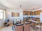 Open Plan Kitchen and Lounge with Sea Views