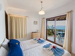 Master bedroom with Private Balcony and Sea Views