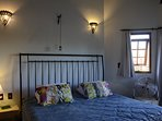super king size bed, en-suite with private balcony