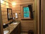 Master Bathroom, shower on left side of sinks