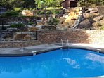 Mountain Shadows Resort Pool, walking distance from cabin. Open May - October, weather permitting