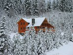 Winters First Snow at Alpine Lodge