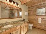 Main Floor Bathroom, double vanity with full bath