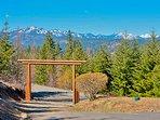 Log Arch Driveway Entry Into Alpine Lodge Estate