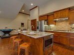 Tahoe Woods Paradise - Kitchen stainless steel appliances