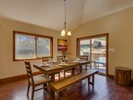 Tahoe Woods Paradise - Dining table for 6
