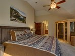 Tahoe Woods Paradise - Master bedroom with sauna