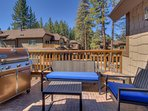 Tahoe Woods Paradise - Balcony with BBQ and seating
