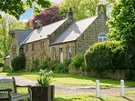 THE OLD SCHOOL ROOM, single-storey, country cottage, lawned garden in Longhorsley, Ref: 942898